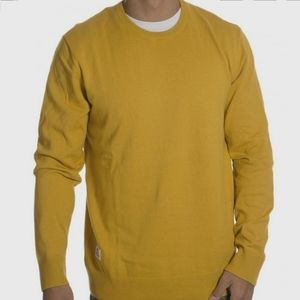 Wesc Men's Embroidered Yellow Crew Sweater, Anwar